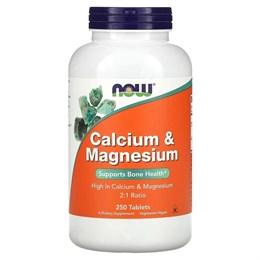 Now Foods, Кальций и магний, 250 таблеток